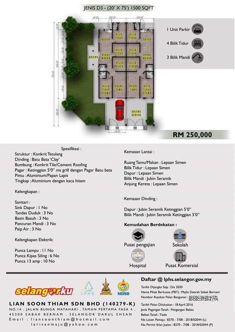Taman Emas, Sabak Bernam - Rumah SelangorKu 3